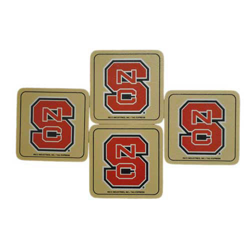 NC State Wolfpack Leather Bonded Coasters Set