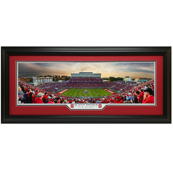 NC State Wolfpack UNC Panoramic Framed Print