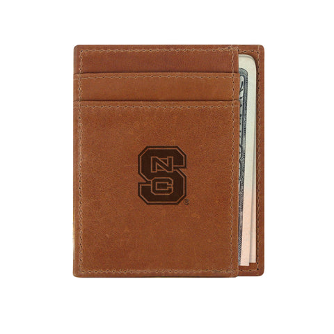 NC State Wolfpack Tan Slim Front Pocket Wallet