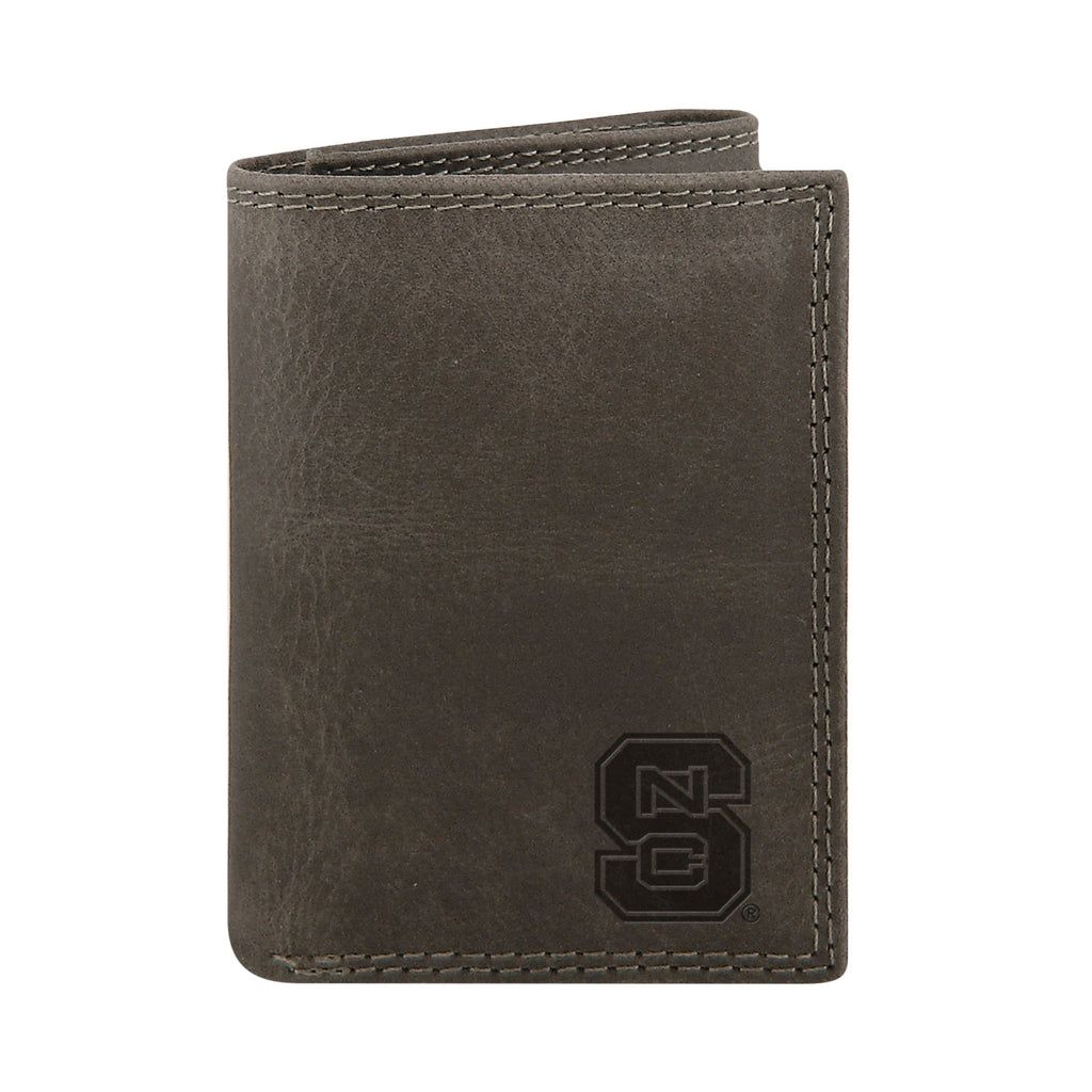NC State Wolfpack Grey Trifold Wallet