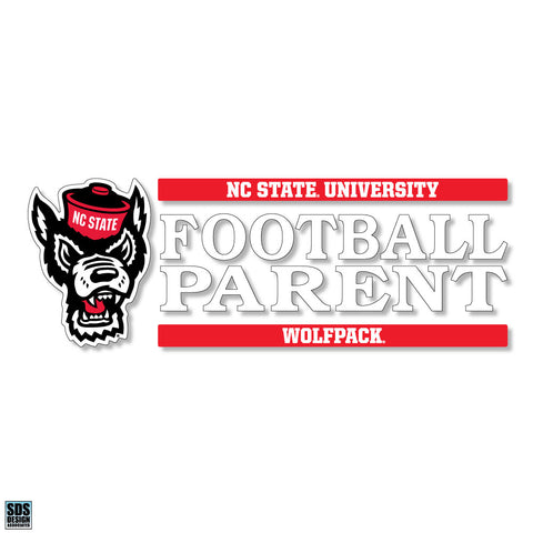 NC State Wolfpack Pack Parent Football Decal