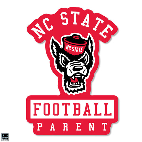 NC State Wolfpack Pack Parent Under Wolfhead Football Decal