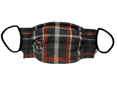 NC State Wolfpack Plaid Wolfhead Easy Mask