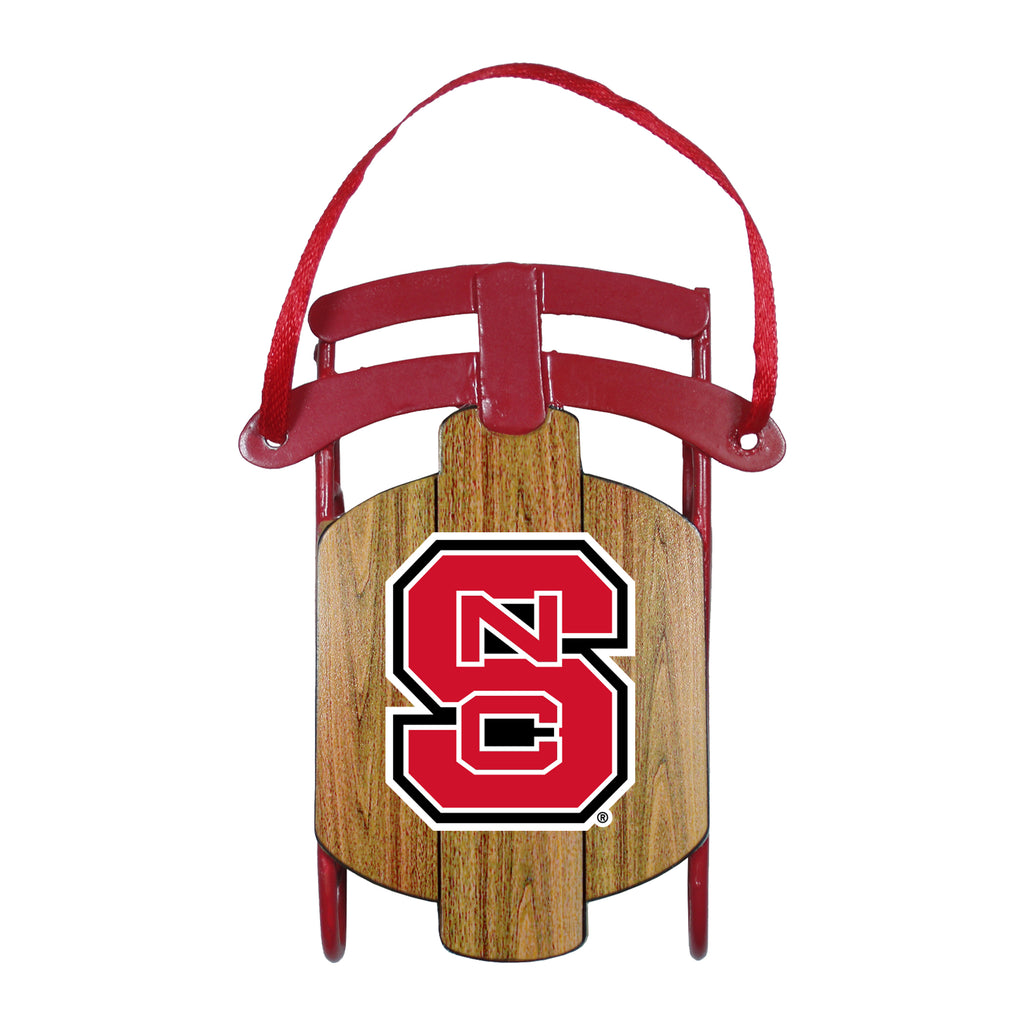 NC State Wolfpack Metal Sled Ornament