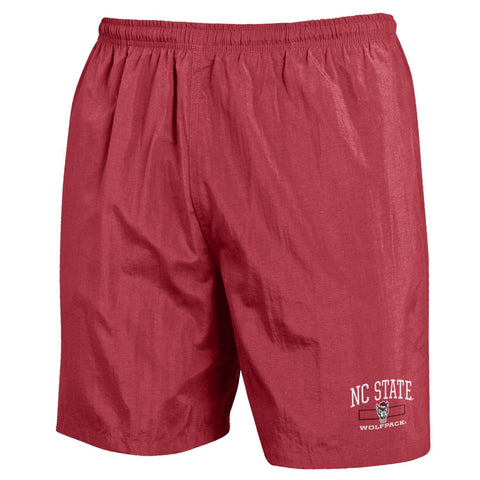 NC State Wolfpack Brick Nylon Swim Trunks