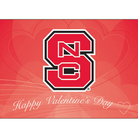 NC State Wolfpack Valentine's Day Card