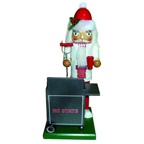 "NC State Wolfpack 12"" Tailgating Wooden Christmas Nutcracker"