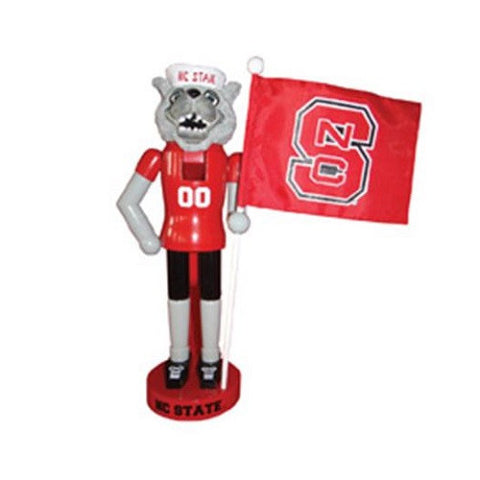 "NC State Wolfpack 12"" Wolf Nutcracker with State Flag"
