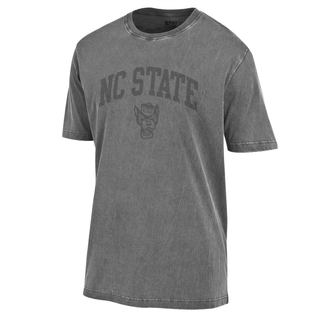 NC State Wolfpack Charcoal Wolfhead Outta Town T-Shirt