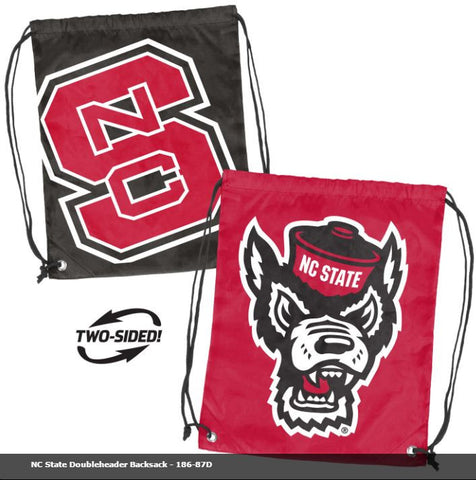 NC State Double Header String Bag