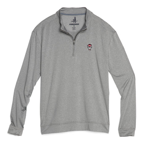NC State Wolfpack Johnnie-O Grey Wolfhead Flex Performance 1/4 Zip Pullover