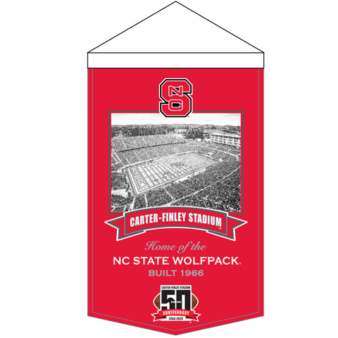 NC State Wolfpack Carter Finley 50th Anniversary Banner