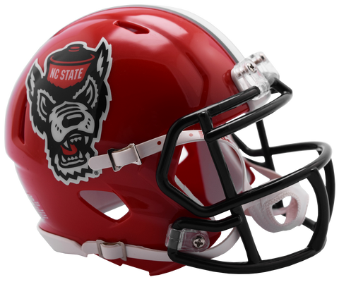 NC State Wolfpack Riddell Red Wolfhead Replica Mini Speed Football Helmet
