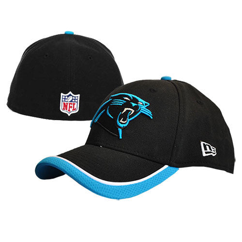 Carolina Panthers New Era Black NE Tech Fitted Hat