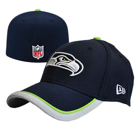 Seattle Seahawks New Era Blue NE Tech Fitted Hat