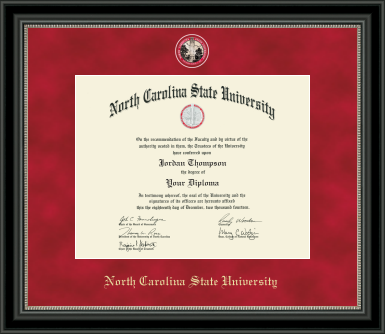 NC State Wolfpack Medallion Regal Diploma Frame