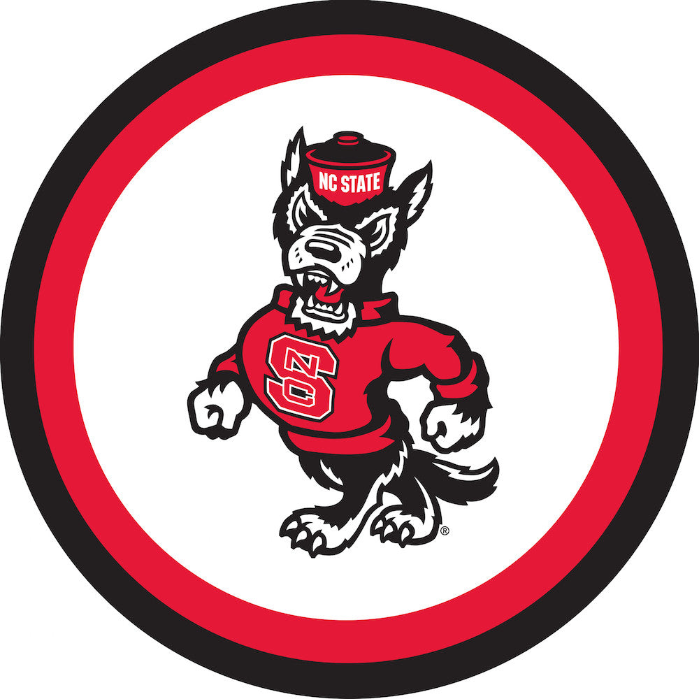 NC State Wolfpack Strutting Wolf Paper Plates