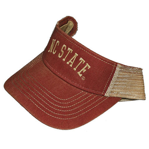NC State Wolfpack Faded Red Trucker Visor
