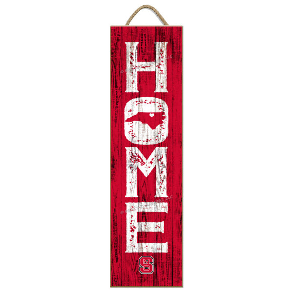 NC State Wolfpack 5.5x20 Red Home Plaque