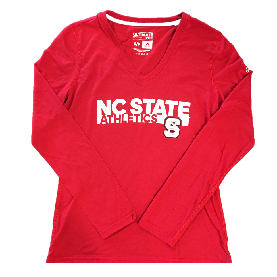 NC State Wolfpack Adidas Red Women's Athletics Ultimate Long Sleeve T-Shirt