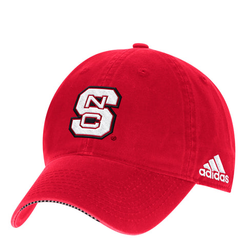 NC State Wolfpack Adidas 2017 Red Sideline Coaches Adjustable Hat