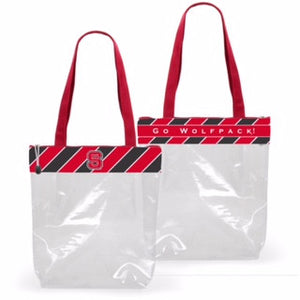 NC State Wolfpack Clear Zipper Stadium Tote