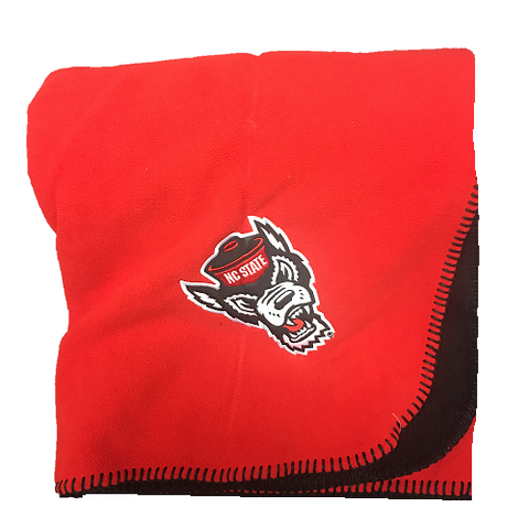 NC State Wolfpack Red and Black Wolfhead Blanket