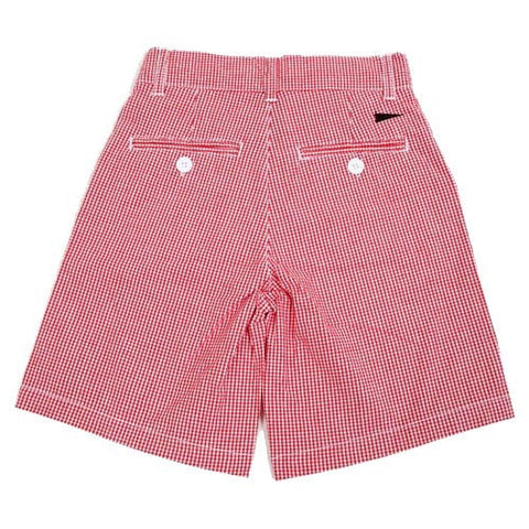 NC State Wolfpack Boys' Red Gingham Shorts