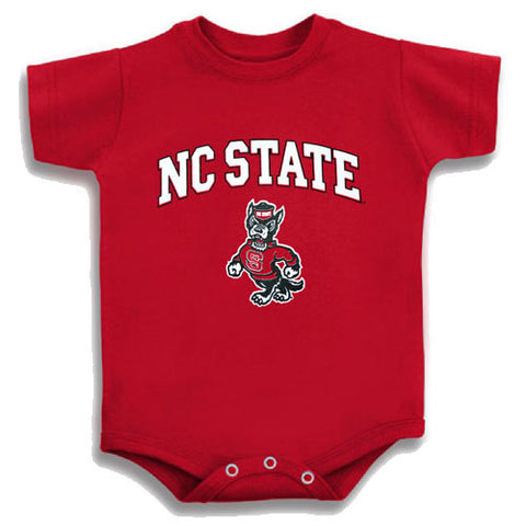 NC State Wolfpack Red Signature Strutting Wolf Onesie