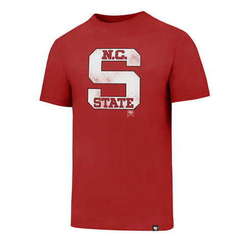 NC State Wolfpack 47 Brand Red Knockaround Club Old Block S T-Shirt