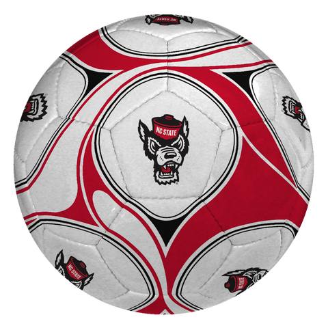 NC State Wolfpack Red and White Wolfhead Offical Size Soccer Ball