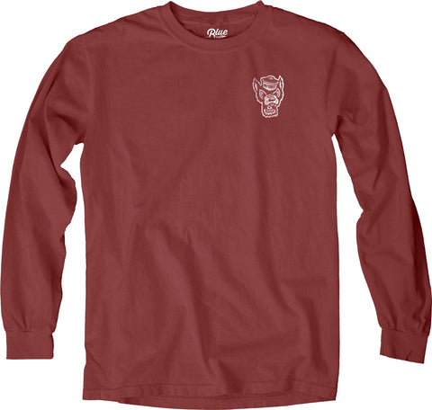 NC State Wolfpack Crimson Zodiac Circle Long Sleeve T-Shirt