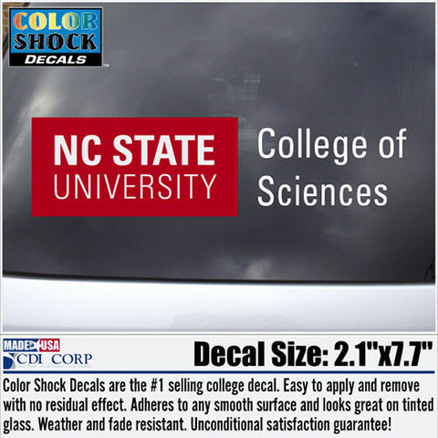 NC State Wolfpack College of Sciences Decal