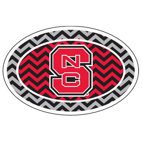NC State Wolfpack Chevron Pattern Euro Decal