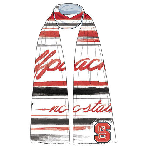 NC State Wolfpack Women's White Wave Scarf