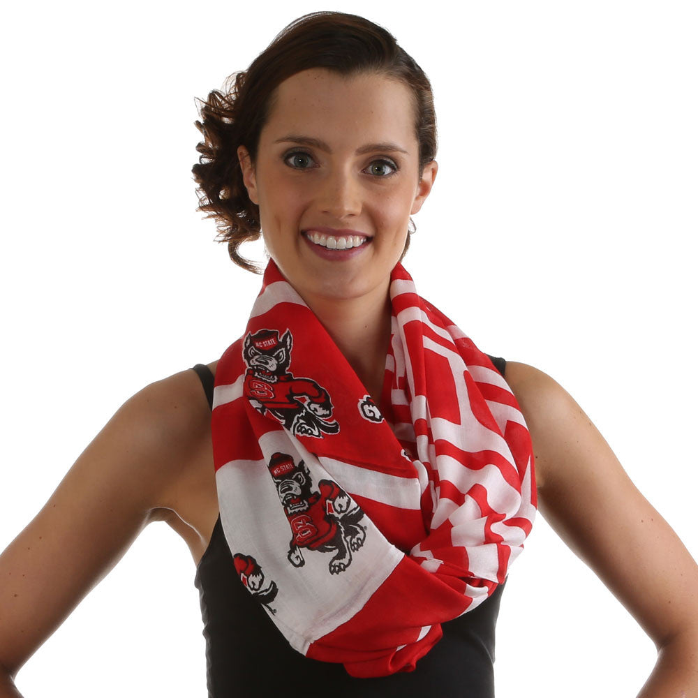 NC State Wolfpack Sheer Print Infinity Scarf