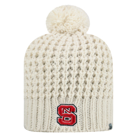 NC State Wolfpack Creme Slouch Uncuffed Knit Hat