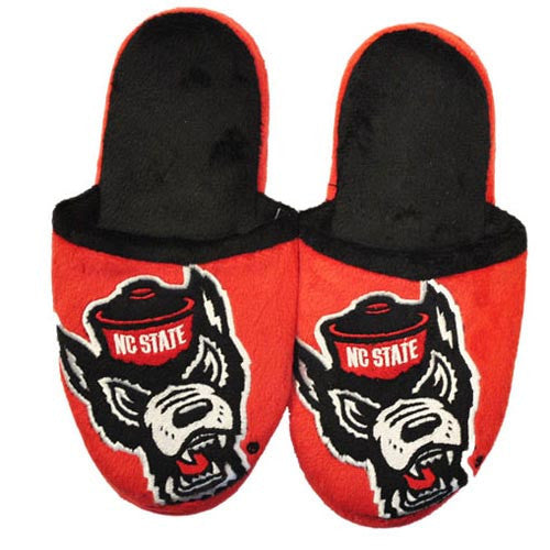 NC State Wolfpack Youth Wolfhead Mascot Slide Slippers
