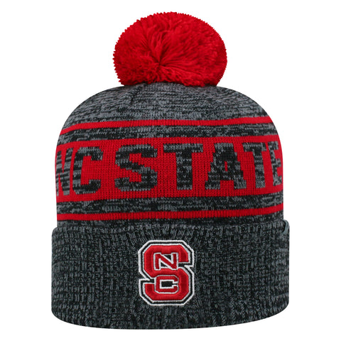 NC State Wolfpack Two-Tone Sock It 2 Me Cuffed Knit Hat