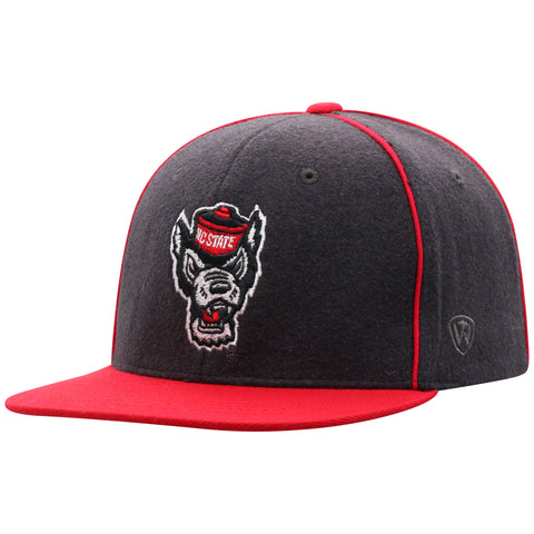 NC State Wolfpack TOW Youth 2-Tone Wolfhead Stable Flat Bill Adjustable Hat