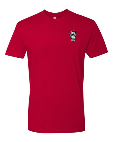 NC State Wolfpack Red Wolfhead Tartan Plaid Premium Fit T-Shirt