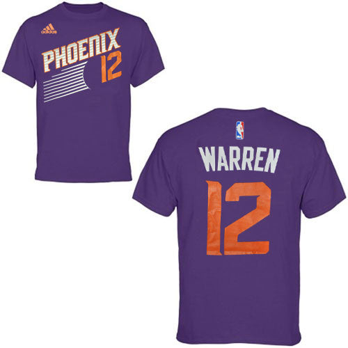 Phoenix Suns Purple #12 Warren Name and Number T-Shirt