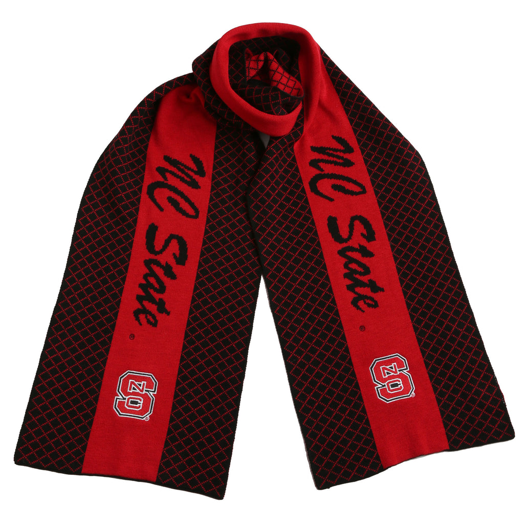 NC State Wolfpack Black and Red Knit Scarf