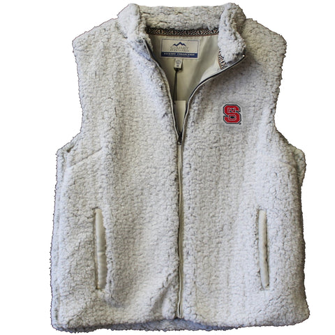 NC State Wolfpack Women's Putty Sherpa Vest