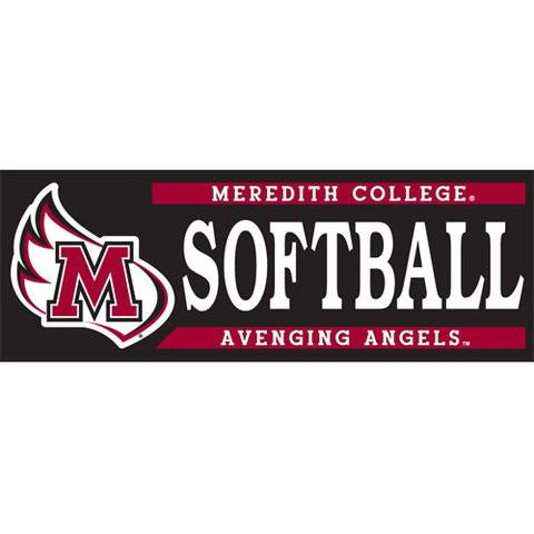 Meredith College Softball Decal