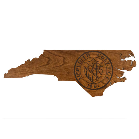"Meredith College 24"" Engraved State Outline Wall Hanging"