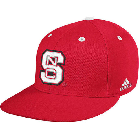 "NC State Wolfpack Red adidas® 2014 ""On-Field"" Baseball Performance Fitted Flatbill Hat"