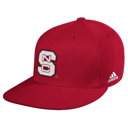 "NC State Wolfpack Red Alternate adidas® 2014 ""On-Field"" Baseball Performance Fitted Flatbill Hat"