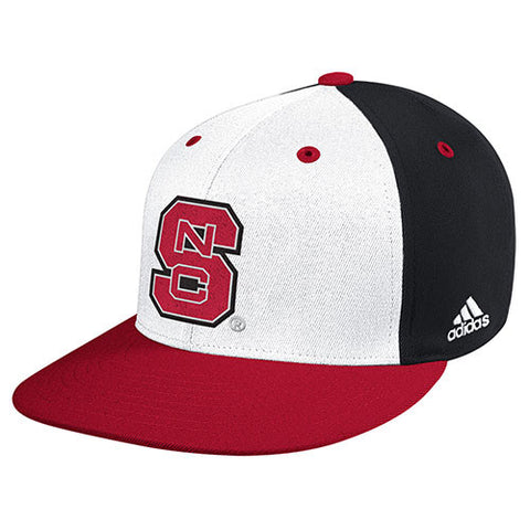 "NC State Wolfpack Adidas Tri-Color 2014 ""On-Field"" Baseball Performance Fitted Flatbill Hat"
