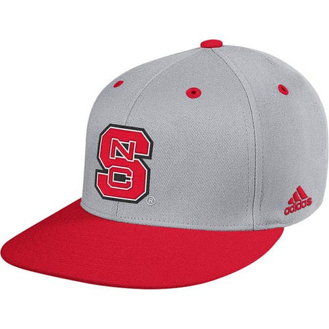 "NC State Wolfpack Grey adidas® 2014 ""On-Field"" Baseball Performance Fitted Flatbill Hat"